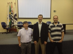 Lauro, Chuck and Murilo after Chuck´s seminar at IQ-Unicamp.